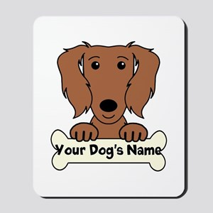 Personalized Dachshund Mousepad